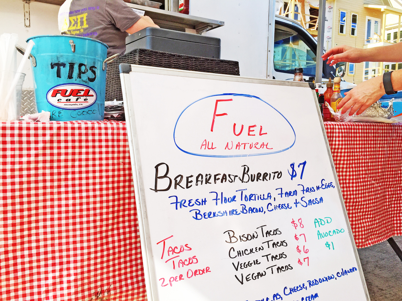 Fuel Breakfast Burrito, $7