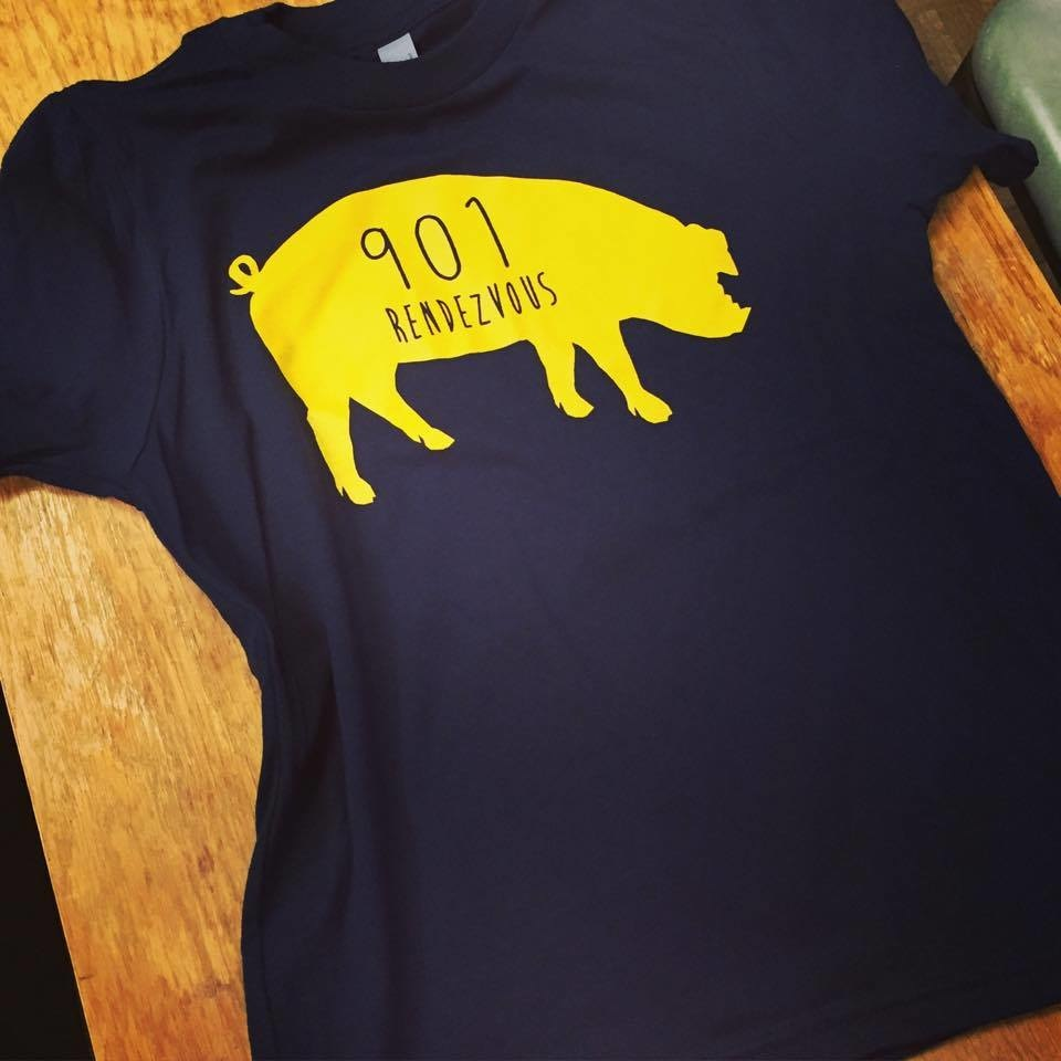 Pig 901 t-shirt from Charlie Vergos Rendezvous, $25.