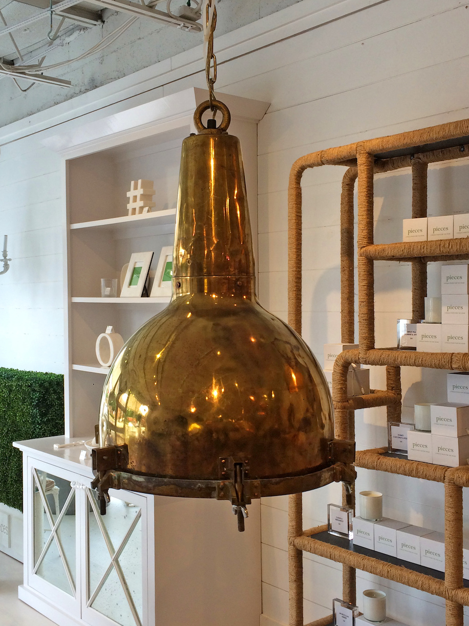Brass pendant light StyleBlueprint Atlanta
