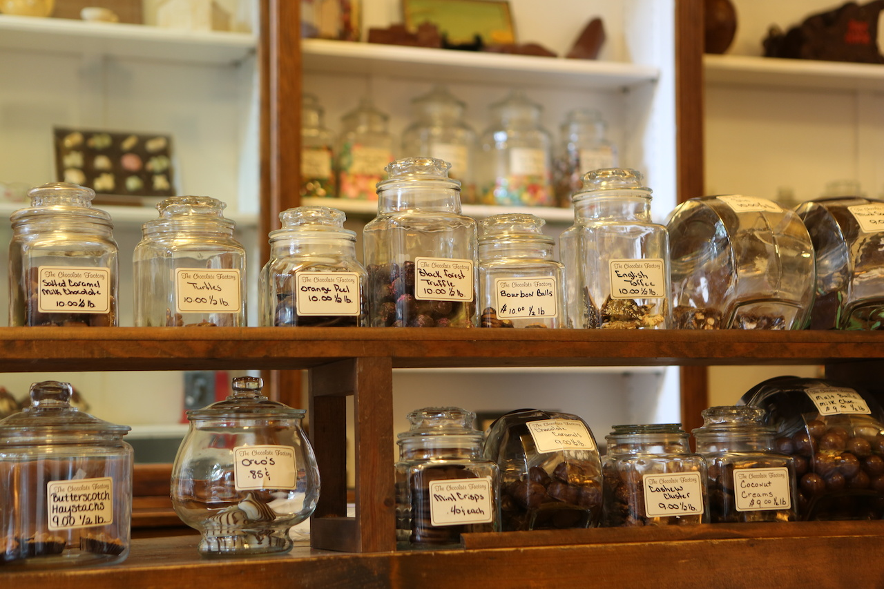Prefer chocolate over art? Swing by the local chocolate store for a sweet fix.