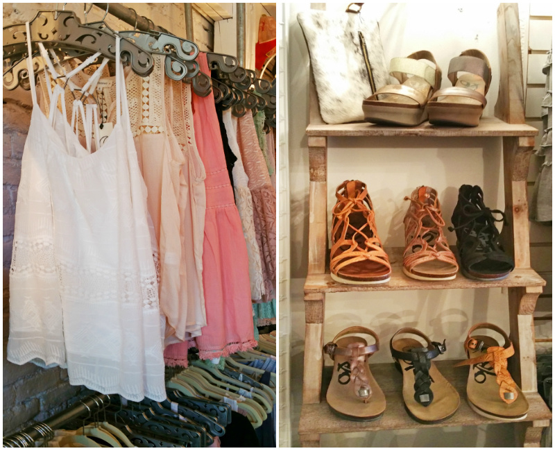 Find cute summer tops and sandals at Helena Mercantile!