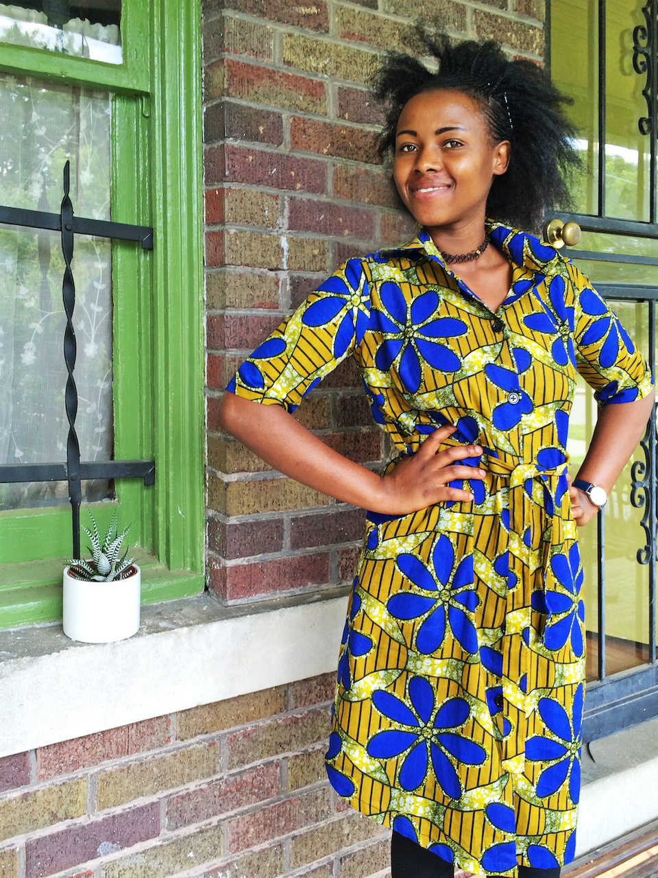 We adore Mbabazi's House of Style easy to wear shirt dresses in fun and unique prints.