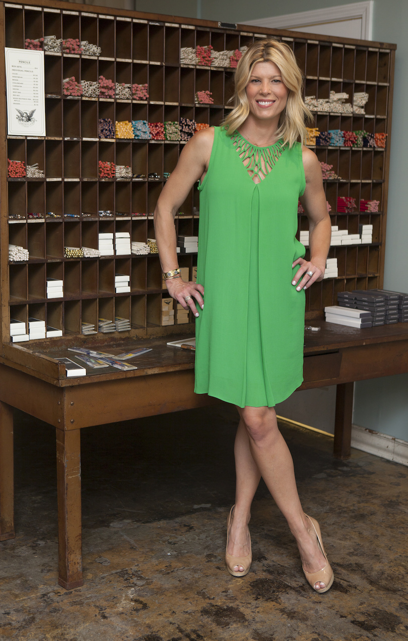 Living with Landyn for StyleBlueprint, this green dress is found K. McCarthy for $268.