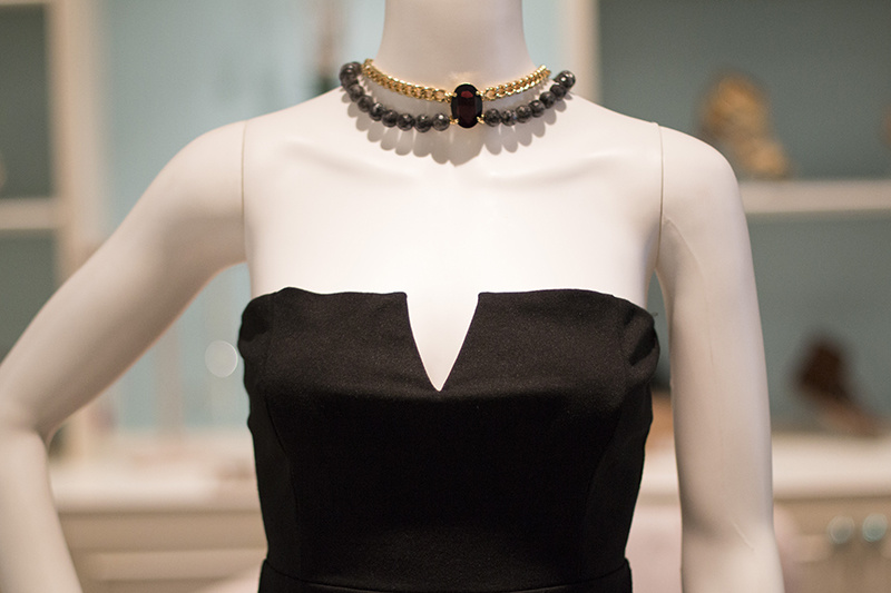 This statement necklace, $86, is a show stopper!
