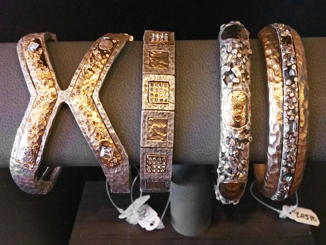 Tat2 Designs bangles, ranging from $180 to $300 each, at Manhattan South