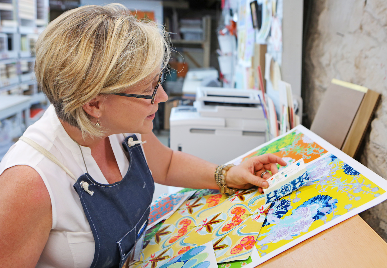 Xima is pictured here in her studio in Franklin, Tennessee.