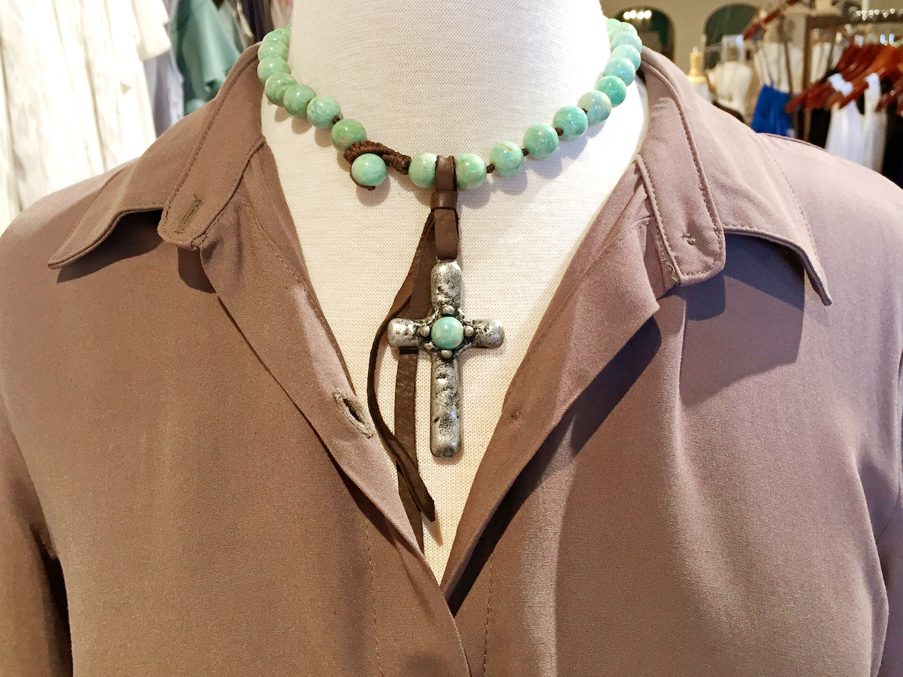 Cross necklace frolic boutique styleblueprint atlanta