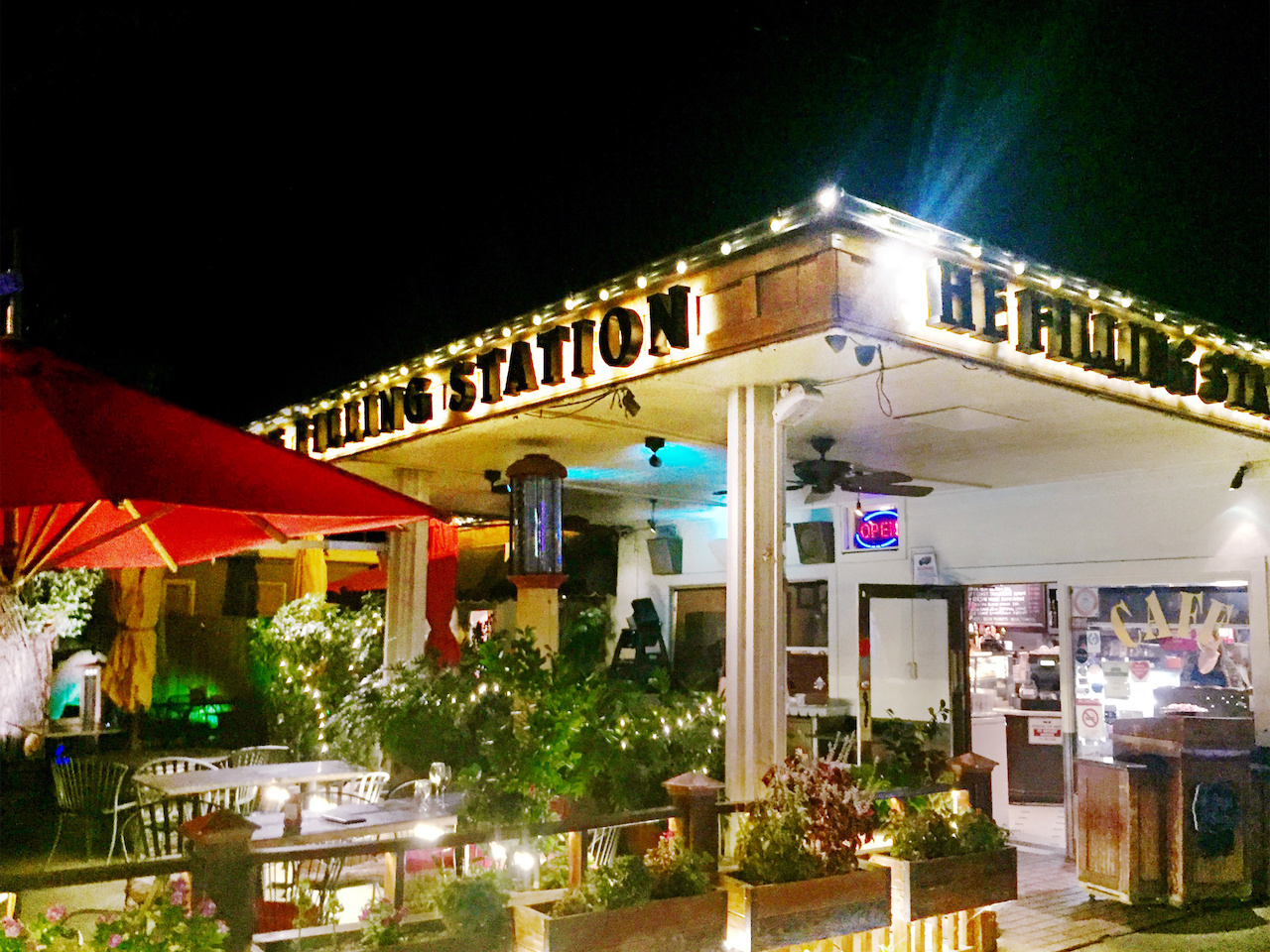 The Filling Station is deceptively quiet the evening before freshman arrive on the nearby Chapman campus, and it's a must-hit for a jolt of coffee for students and Orange residents alike.