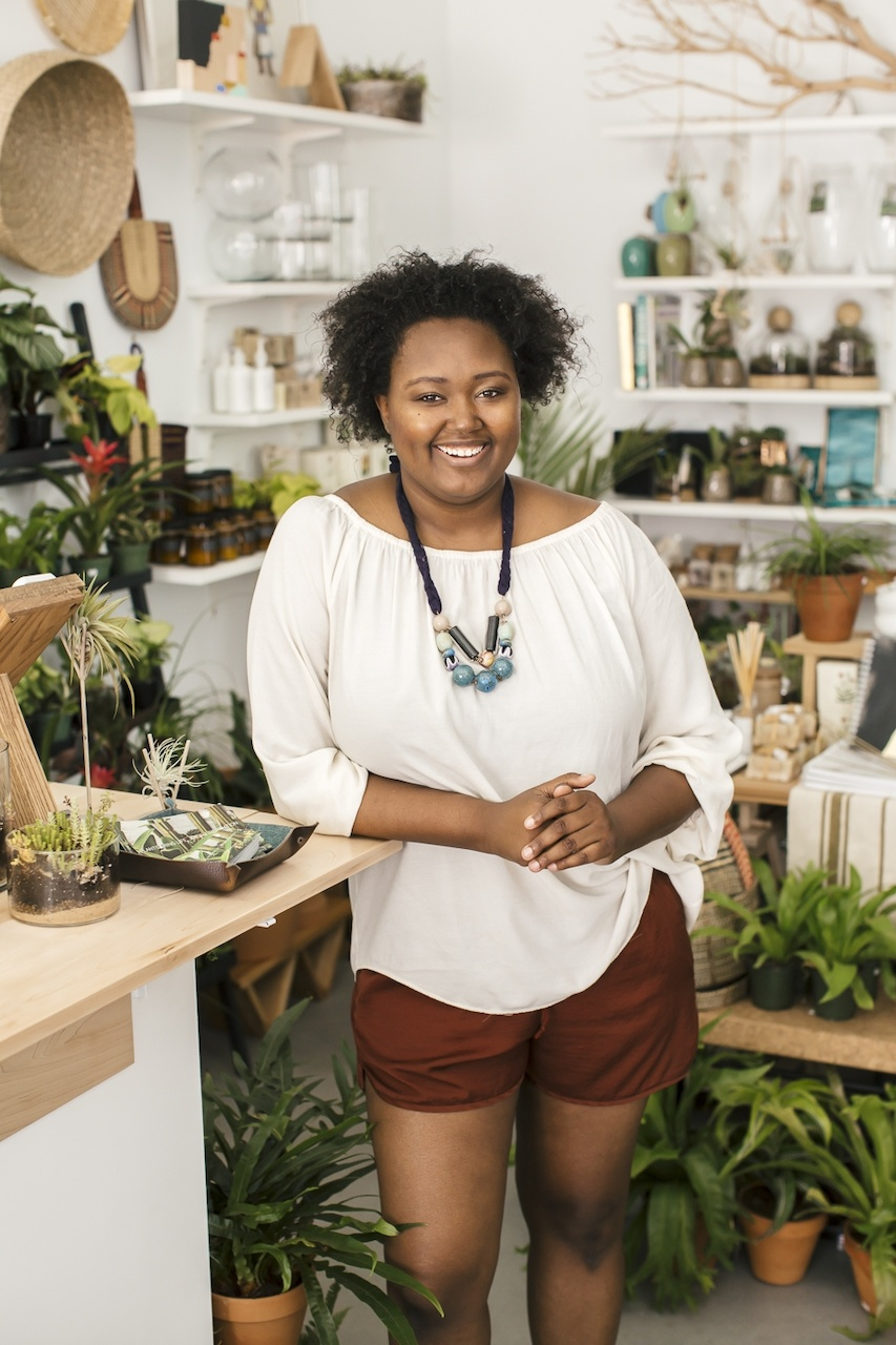 Megan George, owner and founder of The Zen Succulent in Durham, NC