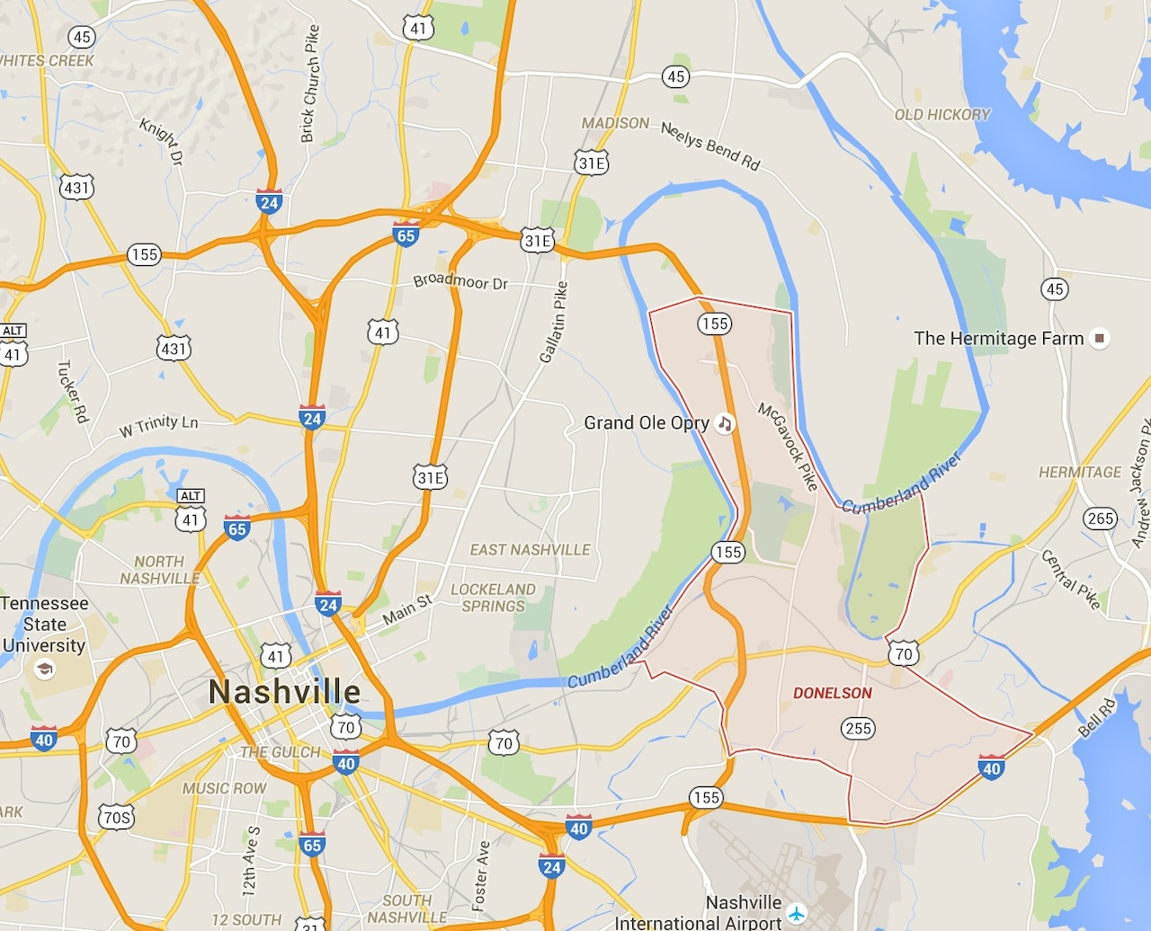 Did you know Donelson cover all of this area? Find out more about this growing region