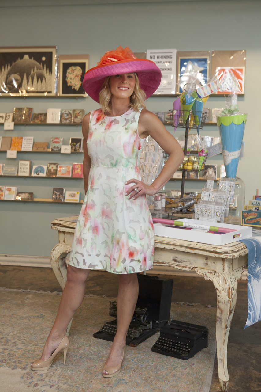Landyn, of Living with Landyn, wears a perfect dress for all your summer needs found at K. McCarthy boutique paired with a gorgeous hat found at Stacey Rhodes Boutique.