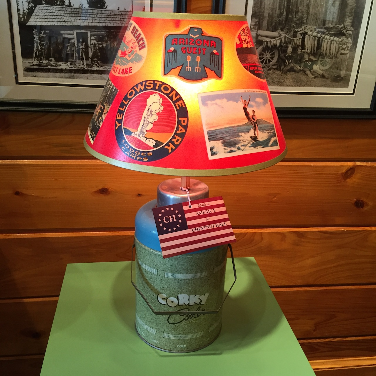 Handmade lamp from At The Cabin, $359.