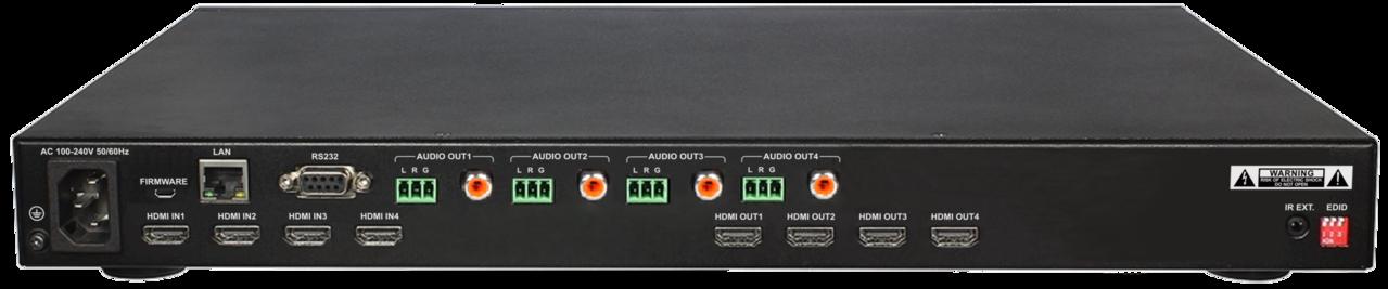 DL-HDM44A-H2 - Digitalinx 4x4 HDMI 2.0 Matrix Switcher