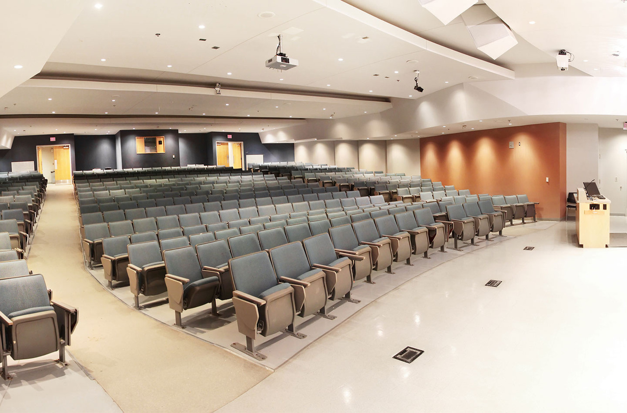 View from stage of lecture hall