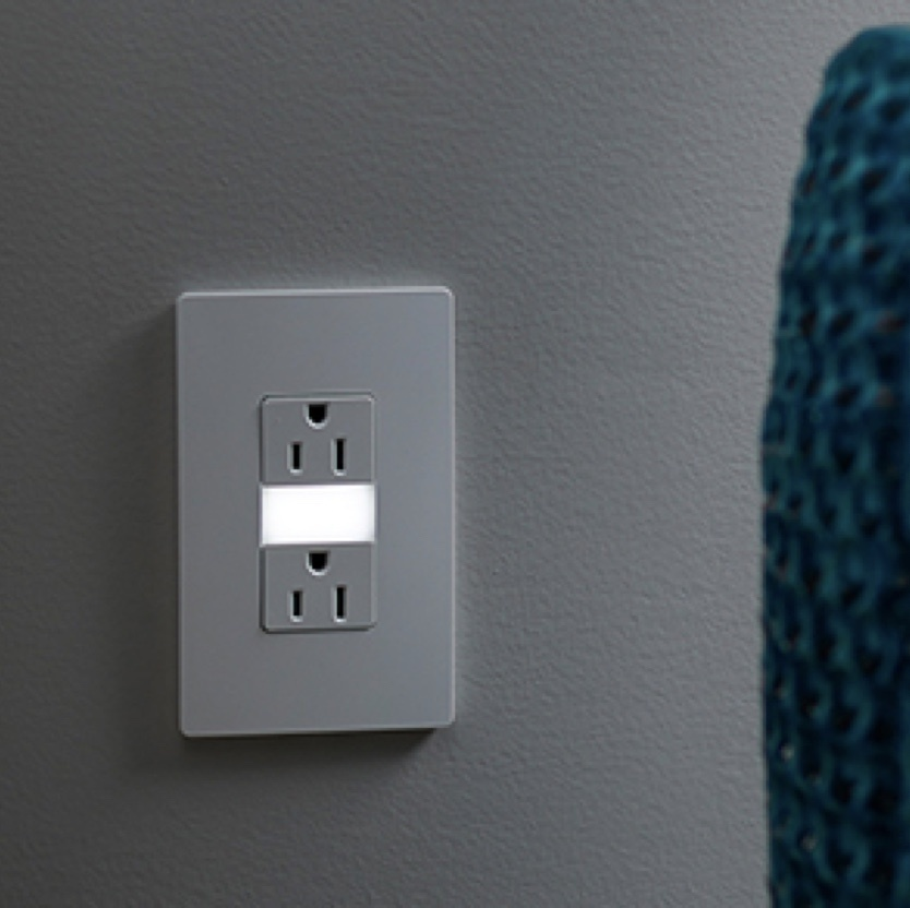 white outlet with nightlight