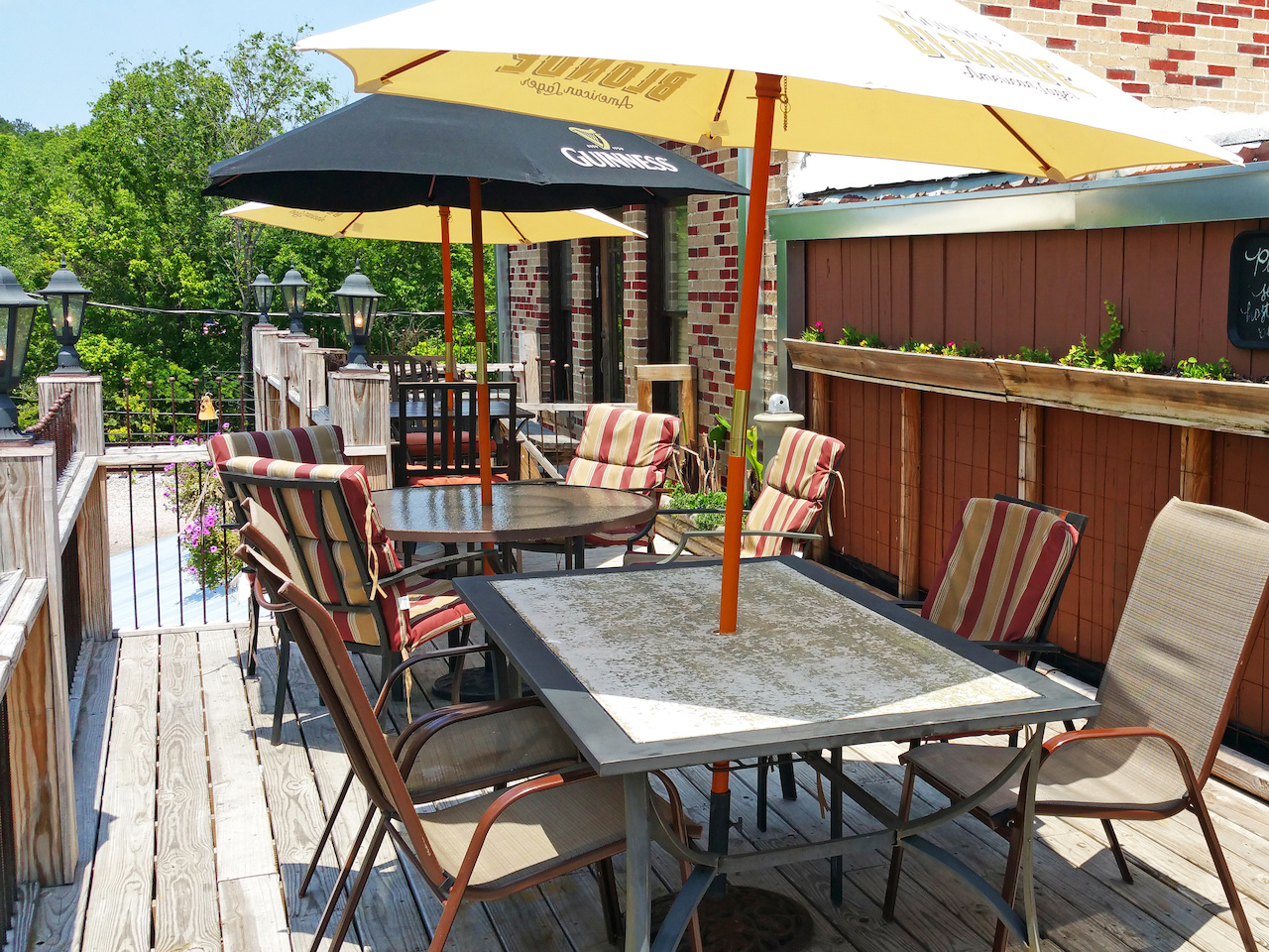 Soak in the sun as you dine at The Coal Yard.