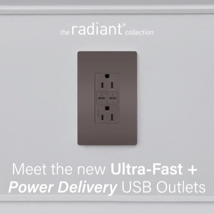 radiant Collection power delivery usb outlet