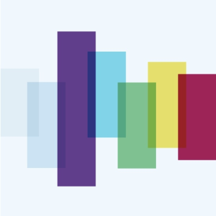 Multi-color rectangles overlapping