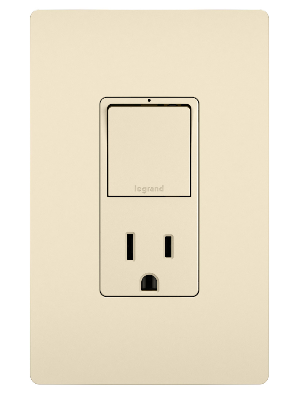 Single Pole/3-Way Switch & 15A Tamper-Resistant Outlet, Light Almond
