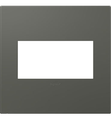 adorne 2-Gang Moss Grey Wall Plate