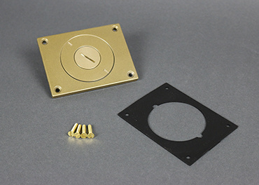 Powder-Coated Alum. Cover Plate, 829CKAL-3/4BS