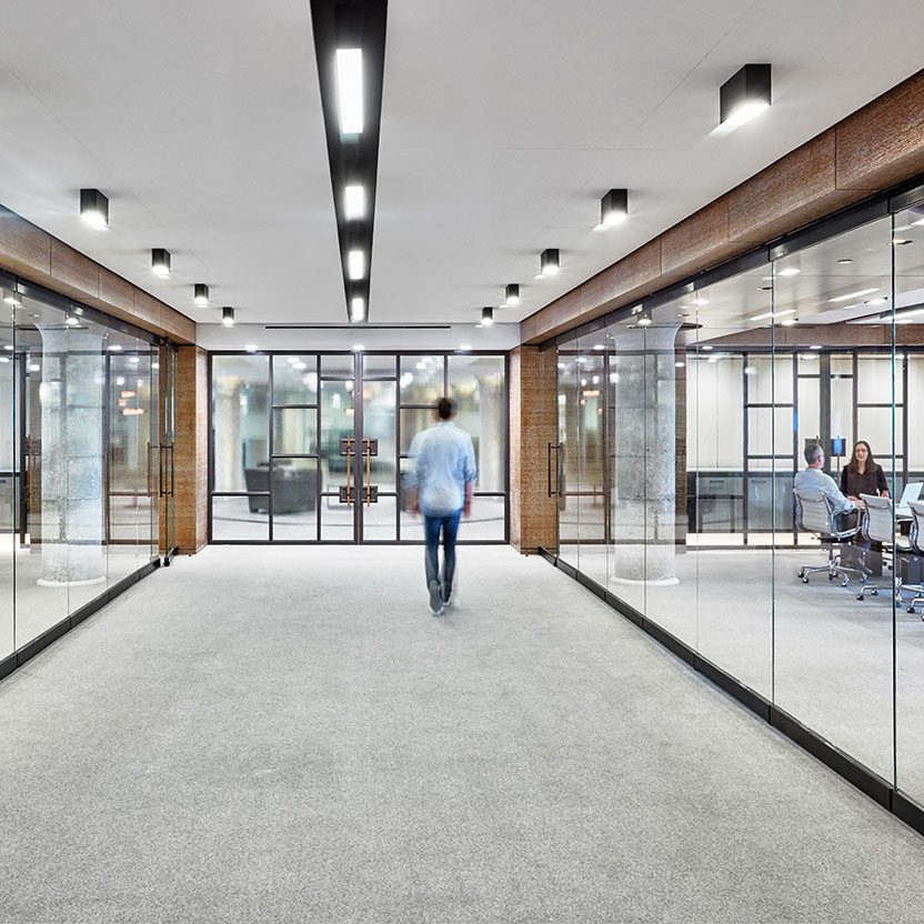 Commercial office hallway