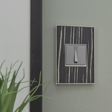 patterned wall plate and magnesium switch