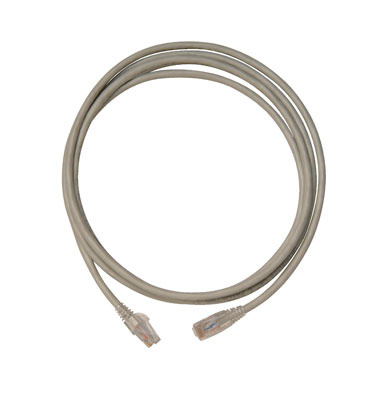 Modular patch cord, Cat 6, four-pair, AWG stranded, PVC, gray, sold in packages of 10.