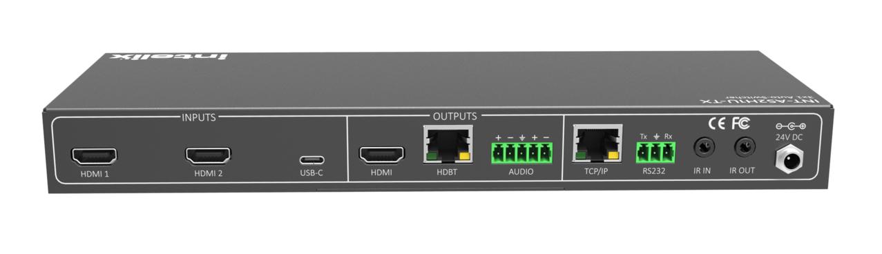 INT-AS2H1U-TX - Intelix 3x1 HDMI/USB-C HDBaseT AutoSwitcher/Extender