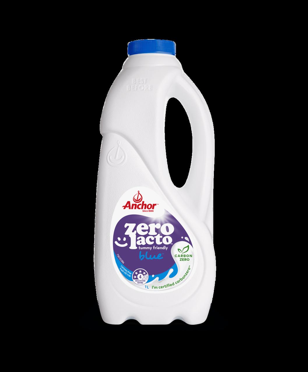Anchor Zero Lacto Blue Milk 1L bottle