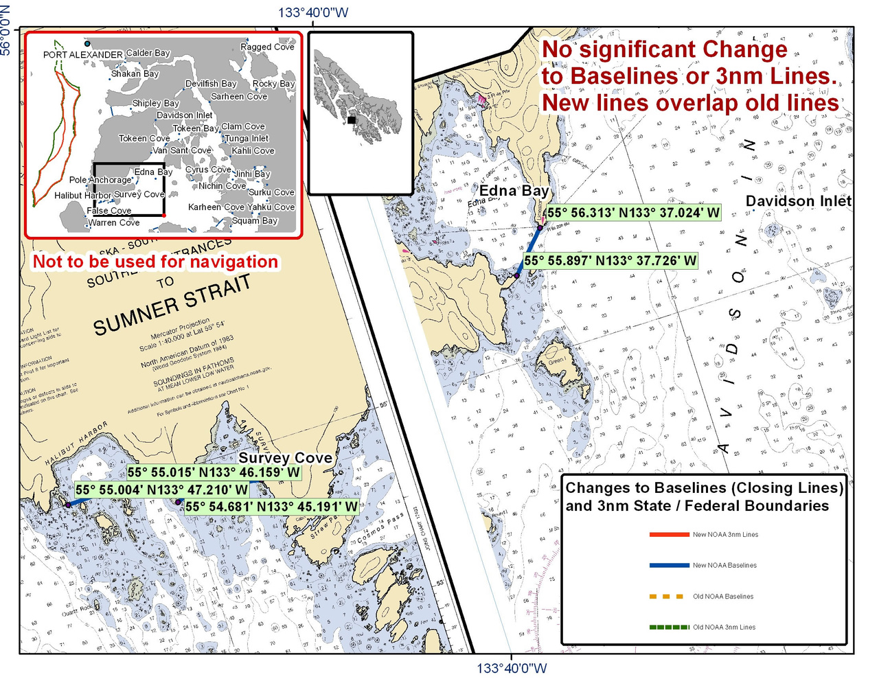 Chart for Survey Cove and the Surrounding Area