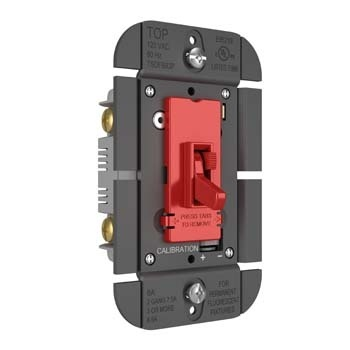 TOGGLE SLIDE DIMMER FLUORESCENT, SINGLE POLE / 3-WAY 8A, RED