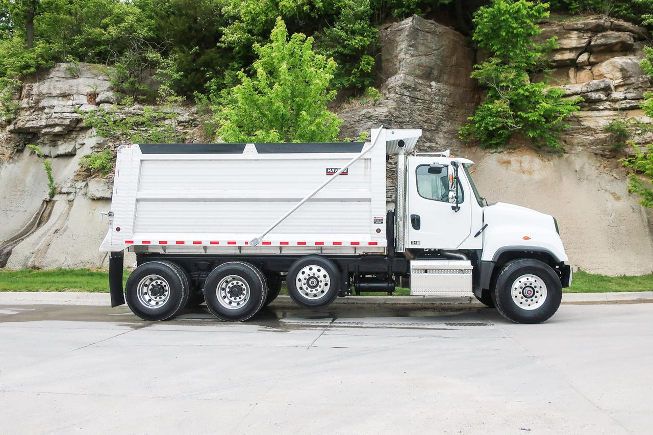 2020 Freightliner 114SD 8x4 Kruz Inc Ravens 16' Aluminum Plate Side Dump Truck
