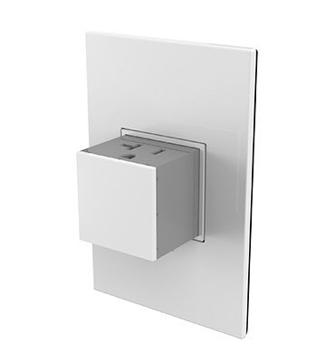 Pop-Out™ Outlet, 20A, 1-Gang, White