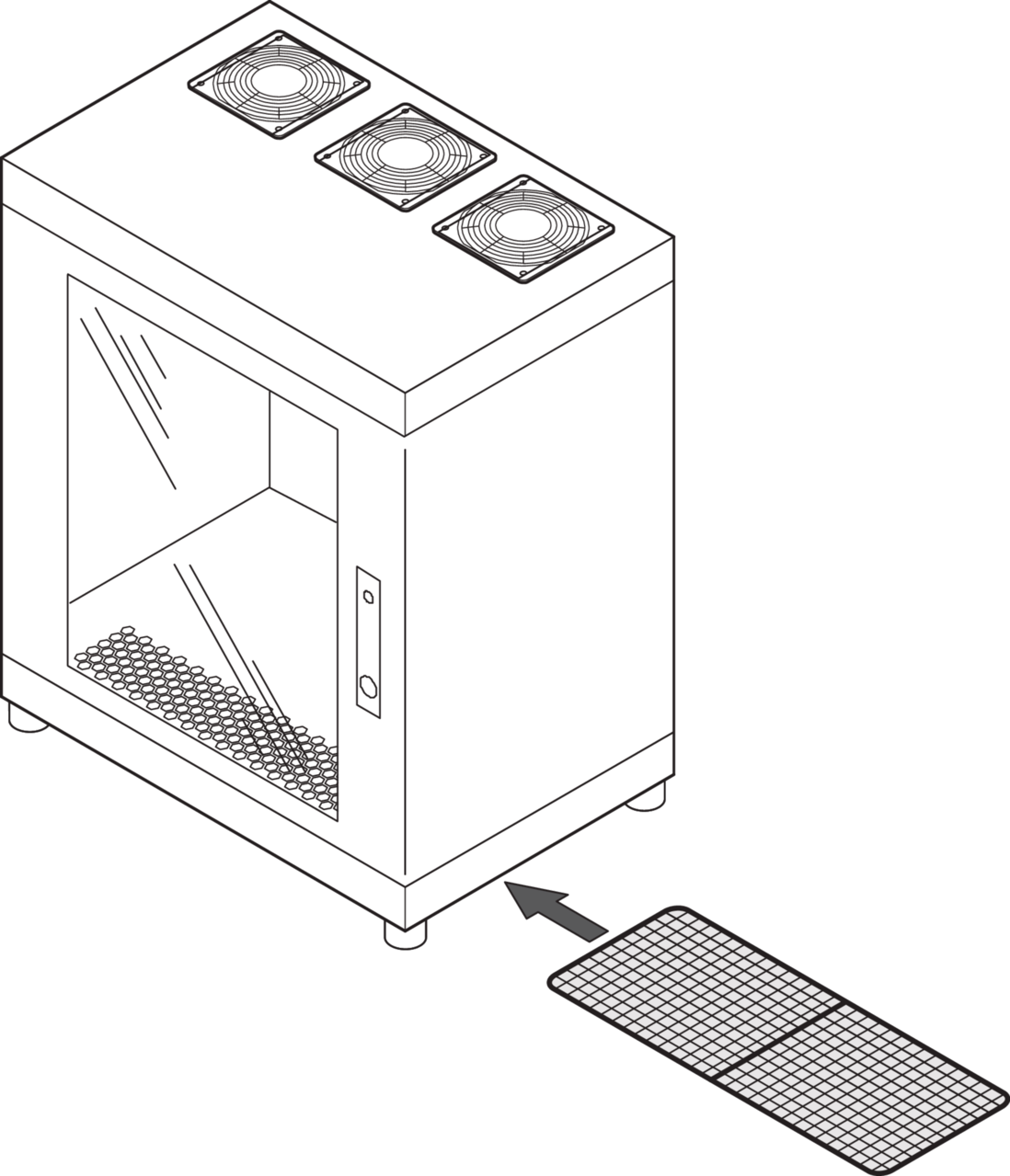 Image for Air filter (Epcase) from Schroff - North America