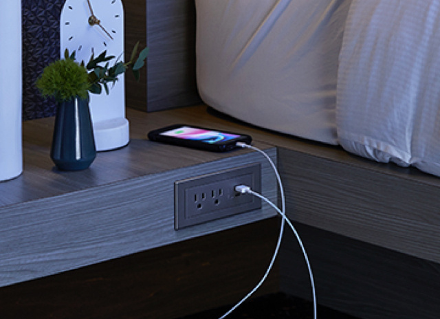 radiant Furniture Power Centers - Hotel Room