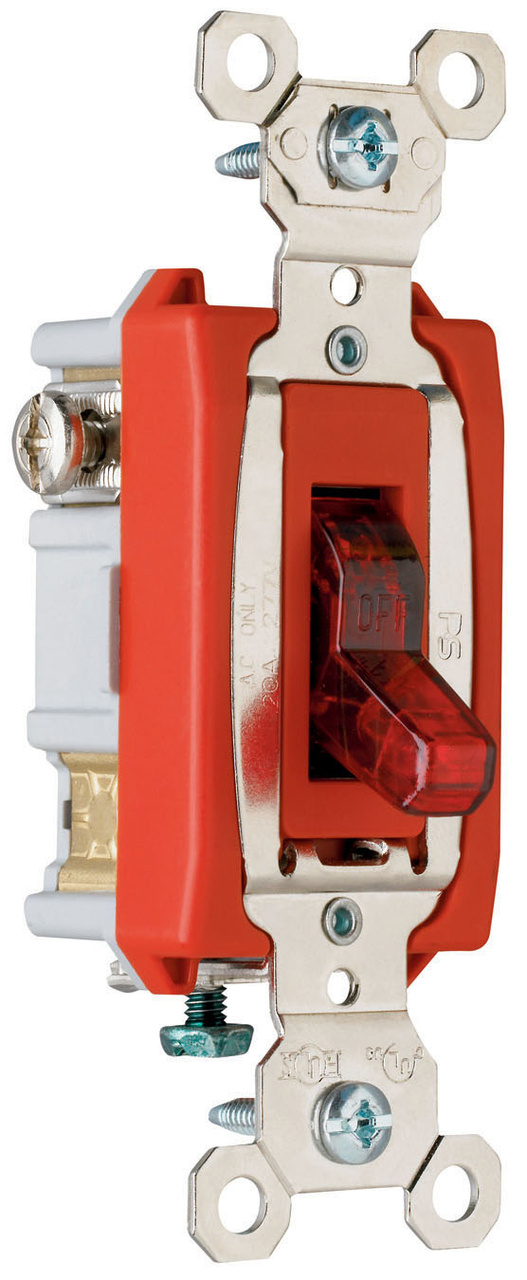Industrial Extra Heavy-Duty Specification Grade Switch, Lighted When On, PS20AC1RPL7