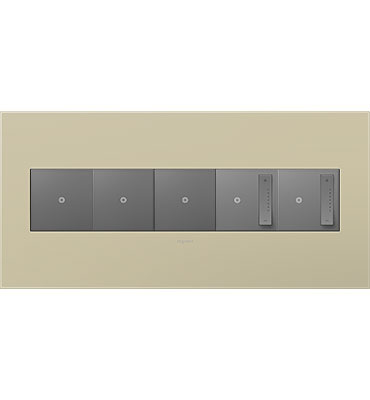 adorne 5-Gang Ashen Tan Wall Plate
