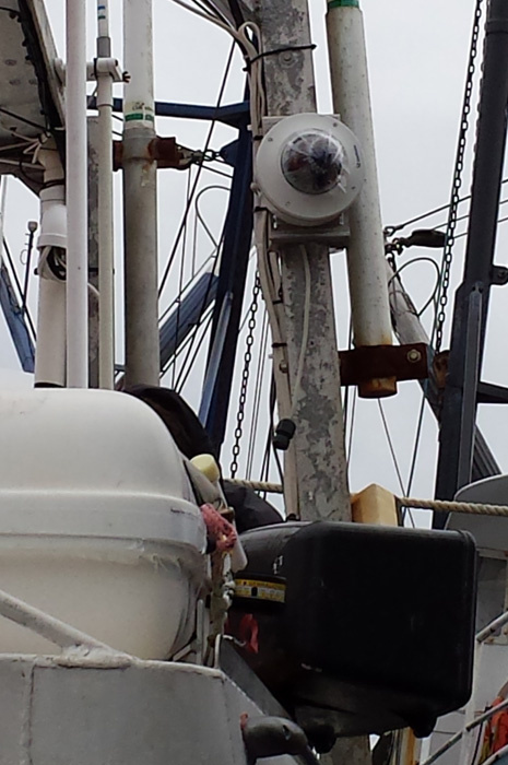 Video camera on fishing vessel