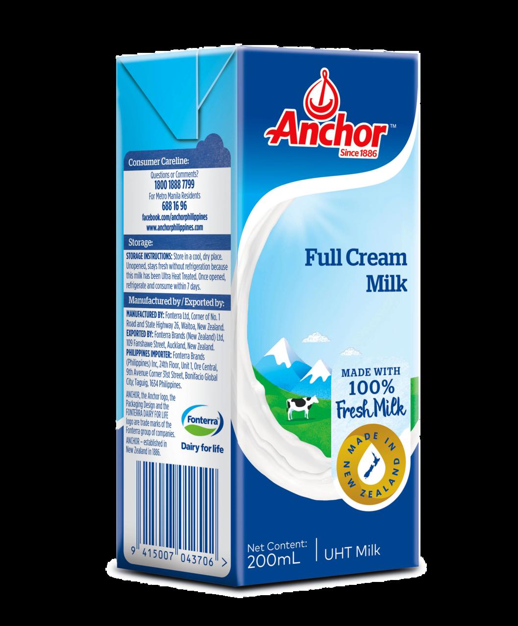Anchor Full Cream UHT Milk 1L