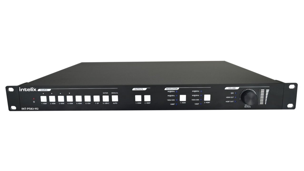 INT-PS82-H2 - Intelix 8x2 Multi-Format Presentation Matrix Switcher Kit w/HDBaseT Receiver