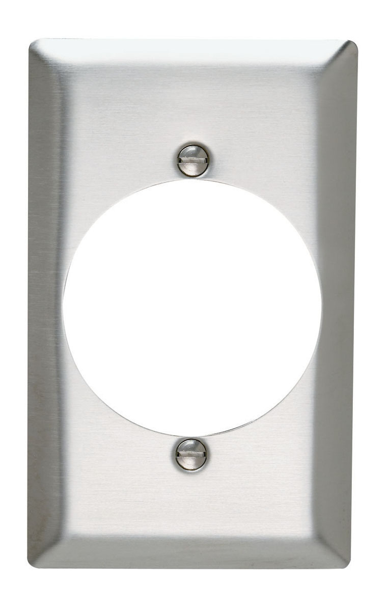 Power Outlet Receptacle Openings, One Gang, 302/304 Stainless Steel