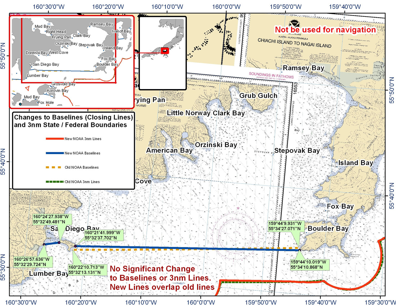 Chart for the Area between San Diego and Boulder Bay