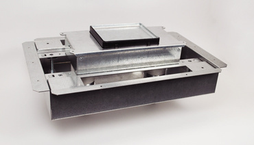 RFB2S-FC 2-gang recessed floor box isometric view