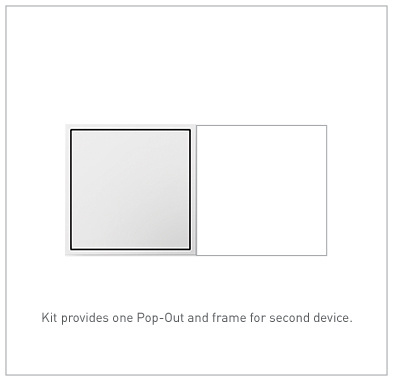 adorne White 2-Gang Pop-Out Outlet