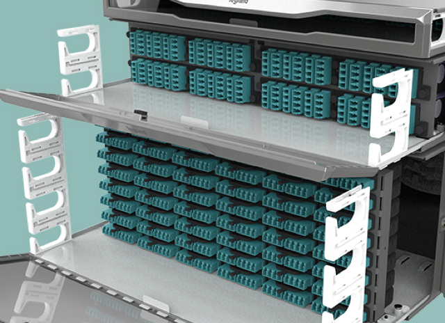 Easily convert between our standard density 12-fiber base system to an 8-fiber base system by swapping out the M4 drawer face with a M8 drawer face