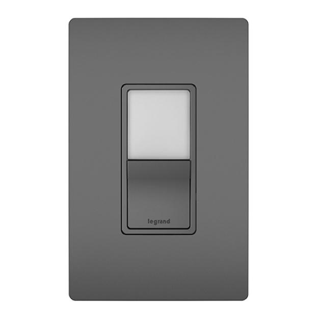 radiant black night light switch