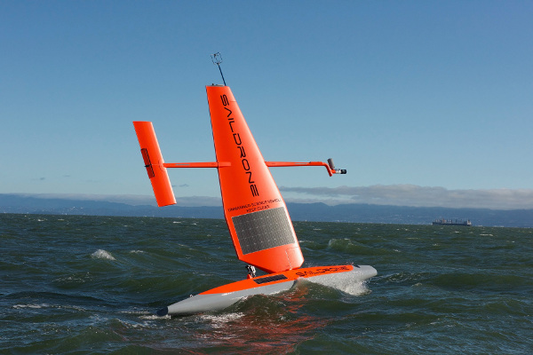 Saildrone off the coast of California. Courtesy Saildrone Inc.
