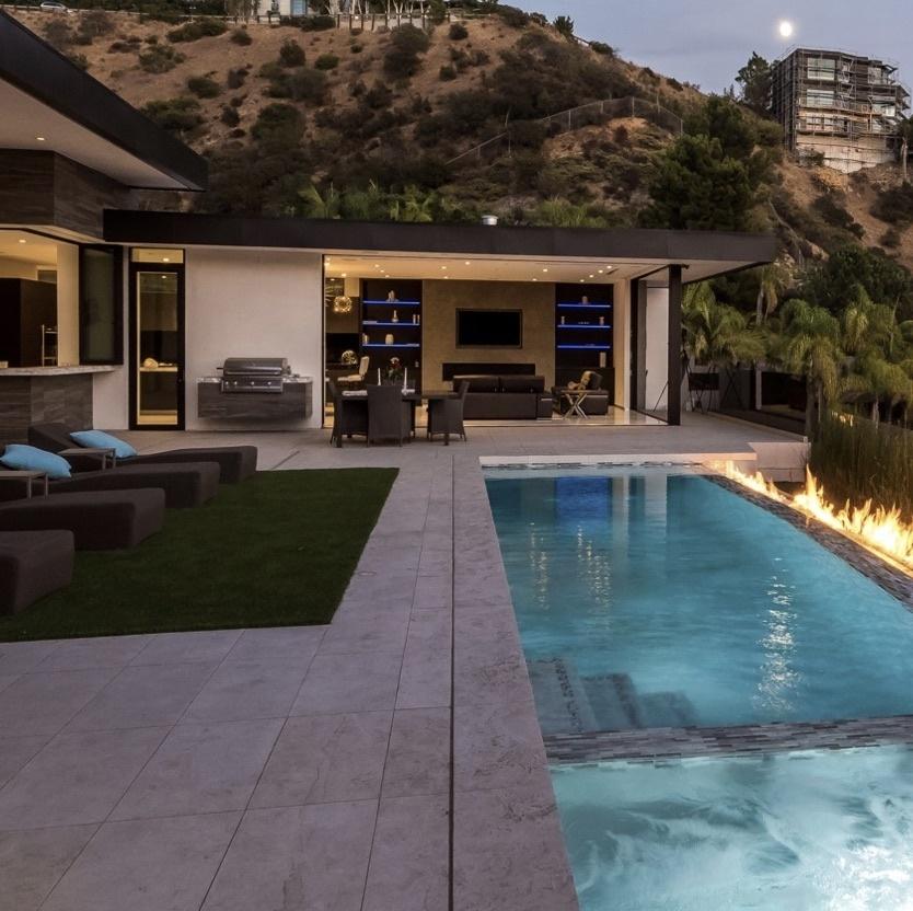 backyard pool and entertainment