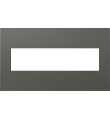 adorne 4-Gang Moss Grey Wall Plate